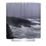 Raging Fury At Quoddy Shower Curtain