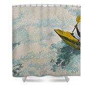 Raging Run Shower Curtain