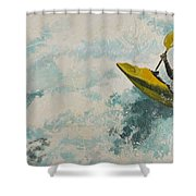 Raging Run Shower Curtain