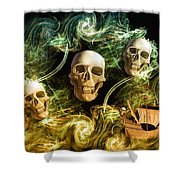 Raging Wars Of Pirates Past Shower Curtain