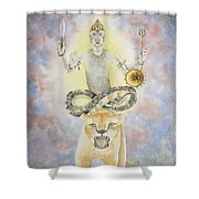 Rahu The North Node Shower Curtain
