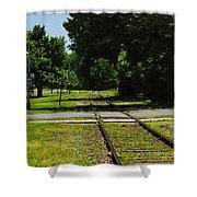 Rail Crossing Shower Curtain