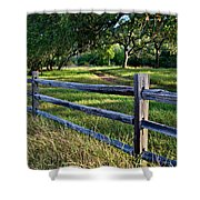 Rail Fence Scenic II Shower Curtain