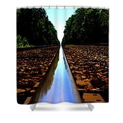Rail Line Shower Curtain