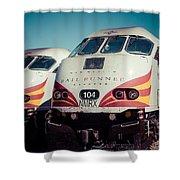 Rail Runner Twins Shower Curtain