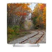 Rail Through The Colors Shower Curtain