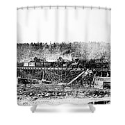 Railroad Bridge, 1858 Shower Curtain