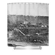 Railroad Bridge, C1860 Shower Curtain