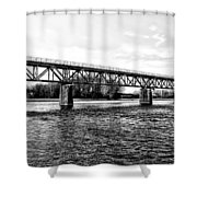 Railroad Bridge Over The Schuylkill River In Norristown Shower Curtain