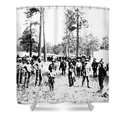 Railroad Camp, 1880s Shower Curtain