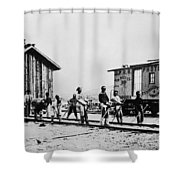 Railroad Chinese Workers Shower Curtain
