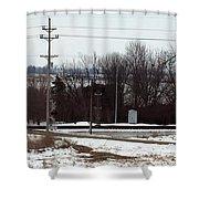 Railroad Crossing Shower Curtain