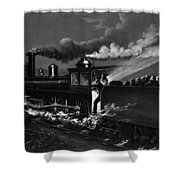 Railroad Danger Signal Shower Curtain