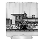 Railroad Engine, C1874 Shower Curtain