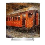 Railroad Gary Flyer Photo Art 02 Shower Curtain