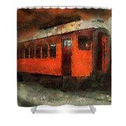 Railroad Gary Flyer Photo Art 03 Shower Curtain