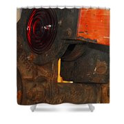 Railroad Gate Signal Shower Curtain