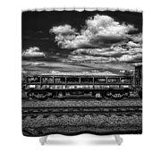 Railroad Gravel Car Shower Curtain