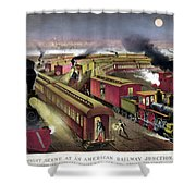 Railroad Junction, C1876 Shower Curtain