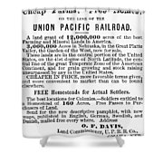 Railroad Land Sale, 1872 Shower Curtain