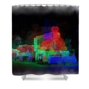 Railroad Led Train Photo Art 01 Shower Curtain