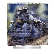 Railroad Locomotive 639 Type 2 8 2 Photo Art Shower Curtain