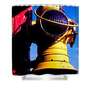Railroad Oil Lantern Shower Curtain