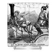 Railroad Safety, 1853 Shower Curtain