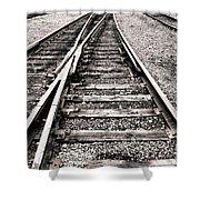 Railroad Switch Shower Curtain