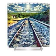Railroad To Heaven Shower Curtain
