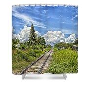Railroad Track Shower Curtain