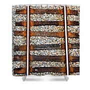 Railroad Track With Gravel 2 Shower Curtain