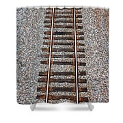 Railroad Track With Gravel Bed Shower Curtain