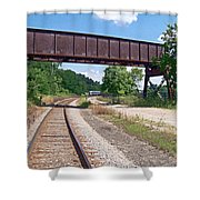 Railroad Train Tracks And Trestle Shower Curtain