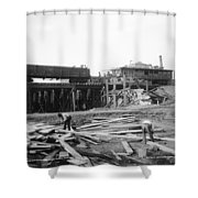Railroad Workers, 1901 Shower Curtain