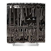Railroad Wrenches Shower Curtain