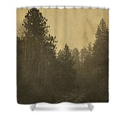 Rails In The Rogue Valley - Vintage Effect Shower Curtain