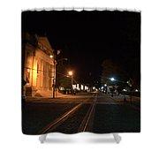 Rails Pre Dawn Shower Curtain
