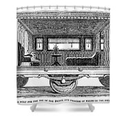 Railway Carriage, 1864 Shower Curtain