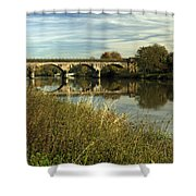 Railway Viaduct At Waterside - Stapenhill Shower Curtain