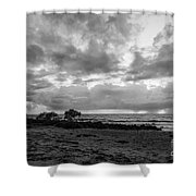 Rain Clouds At Sea 2 Shower Curtain