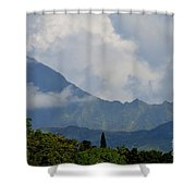 Rain Clouds Over The Makalehas Shower Curtain
