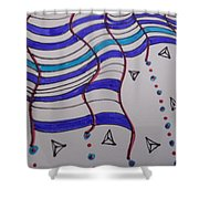 Rain Doodles Shower Curtain