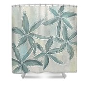 Rain Flowers Shower Curtain