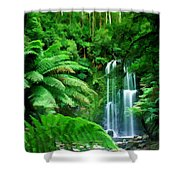 Rain Forest And Waterfall Shower Curtain