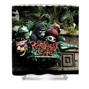 Rain Forest Cafe Signage Downtown Disneyland 03 Shower Curtain
