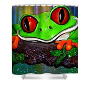 Rain Forest Frog Shower Curtain