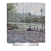 Rain In Lewiston Waterfront Shower Curtain