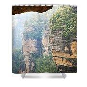 Rain In Mountains Shower Curtain