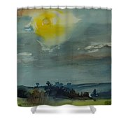 Rain In The Air, 1981 Wc On Paper Shower Curtain